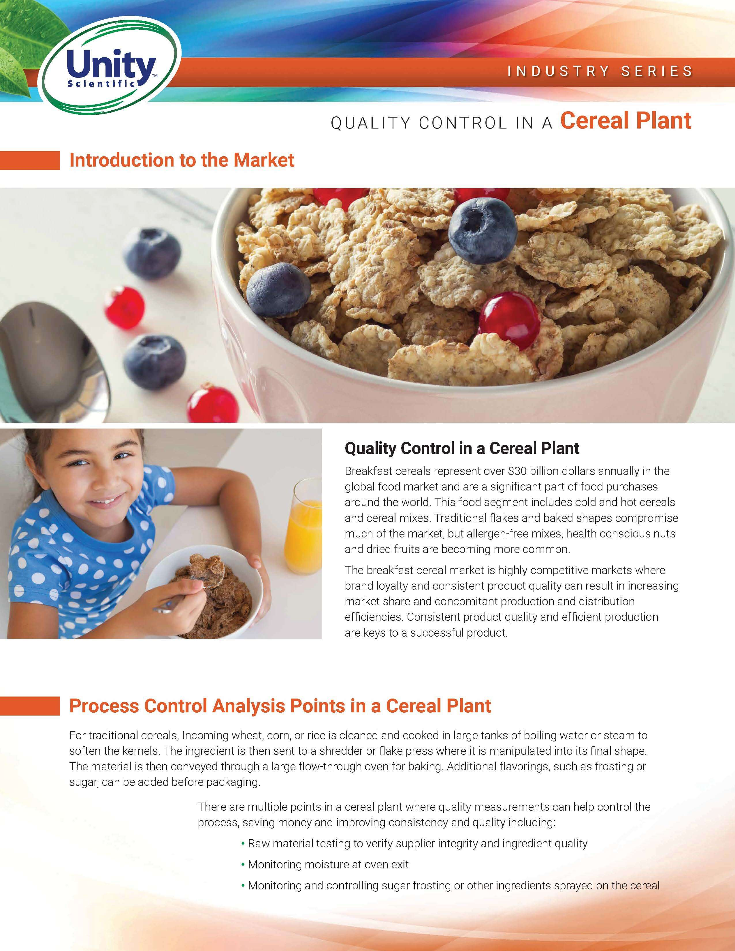 Industry Series - Quality Control In A Cereal Plant