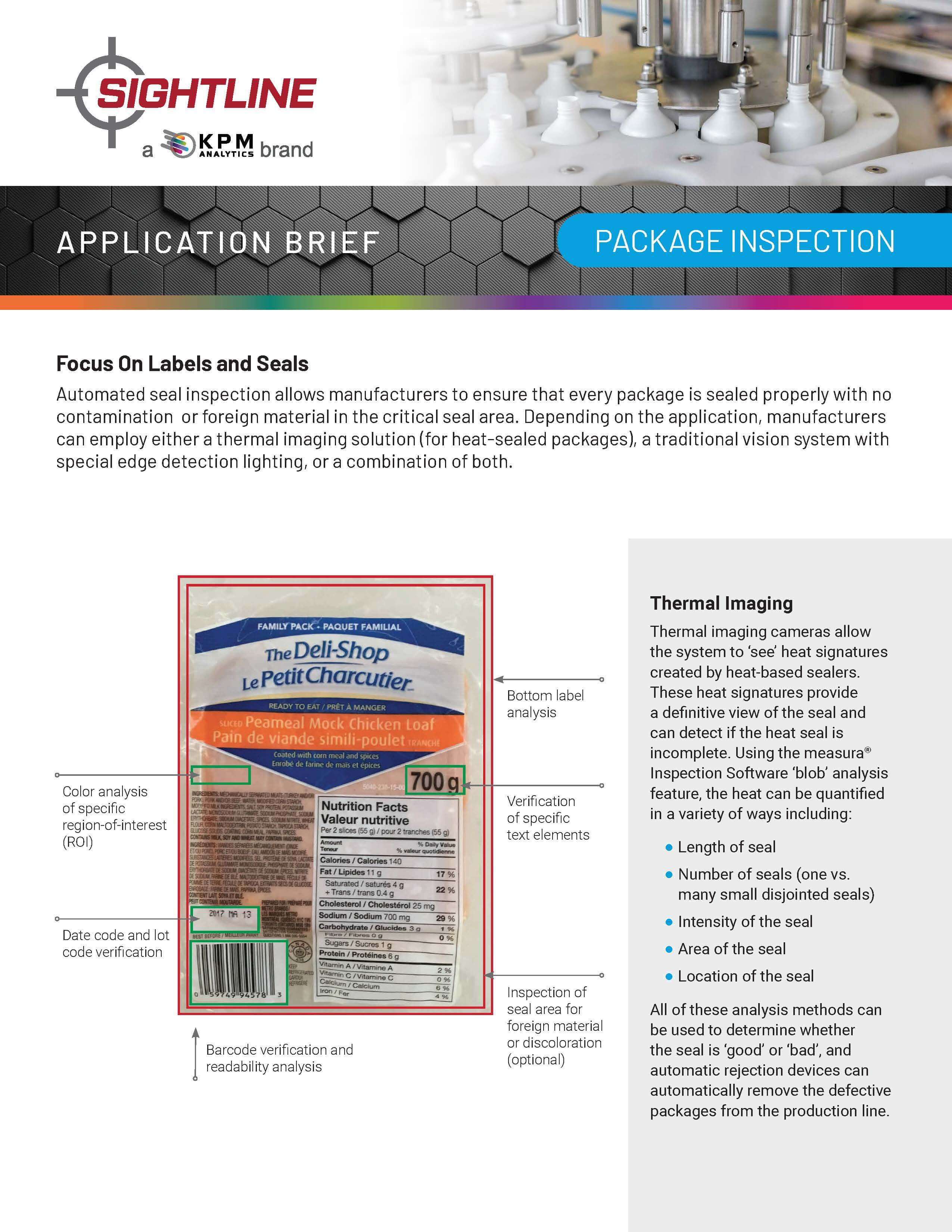 Package, Label and Seal Inspection