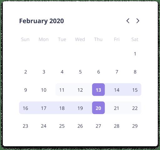 Checkset Calendar UI