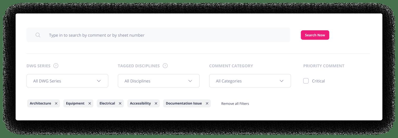 Checkset filters UI