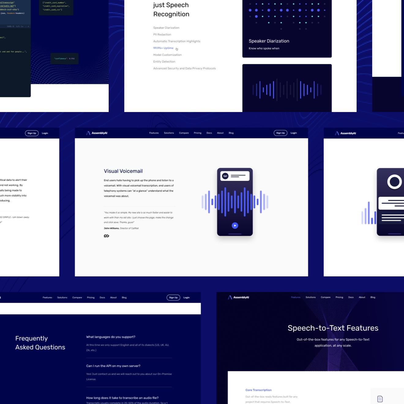 AssemblyAI website made by Refokus