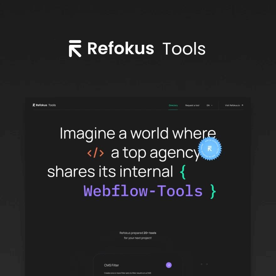 Refokus tools for Webflow