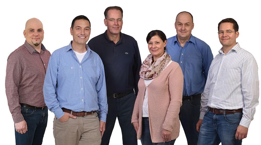 Teamfoto der ImmoVernunft GmbH mit Mitarbeitern