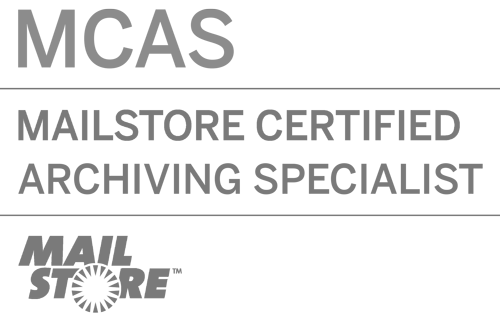 A picture of the Mailstore certified arching specialist logo