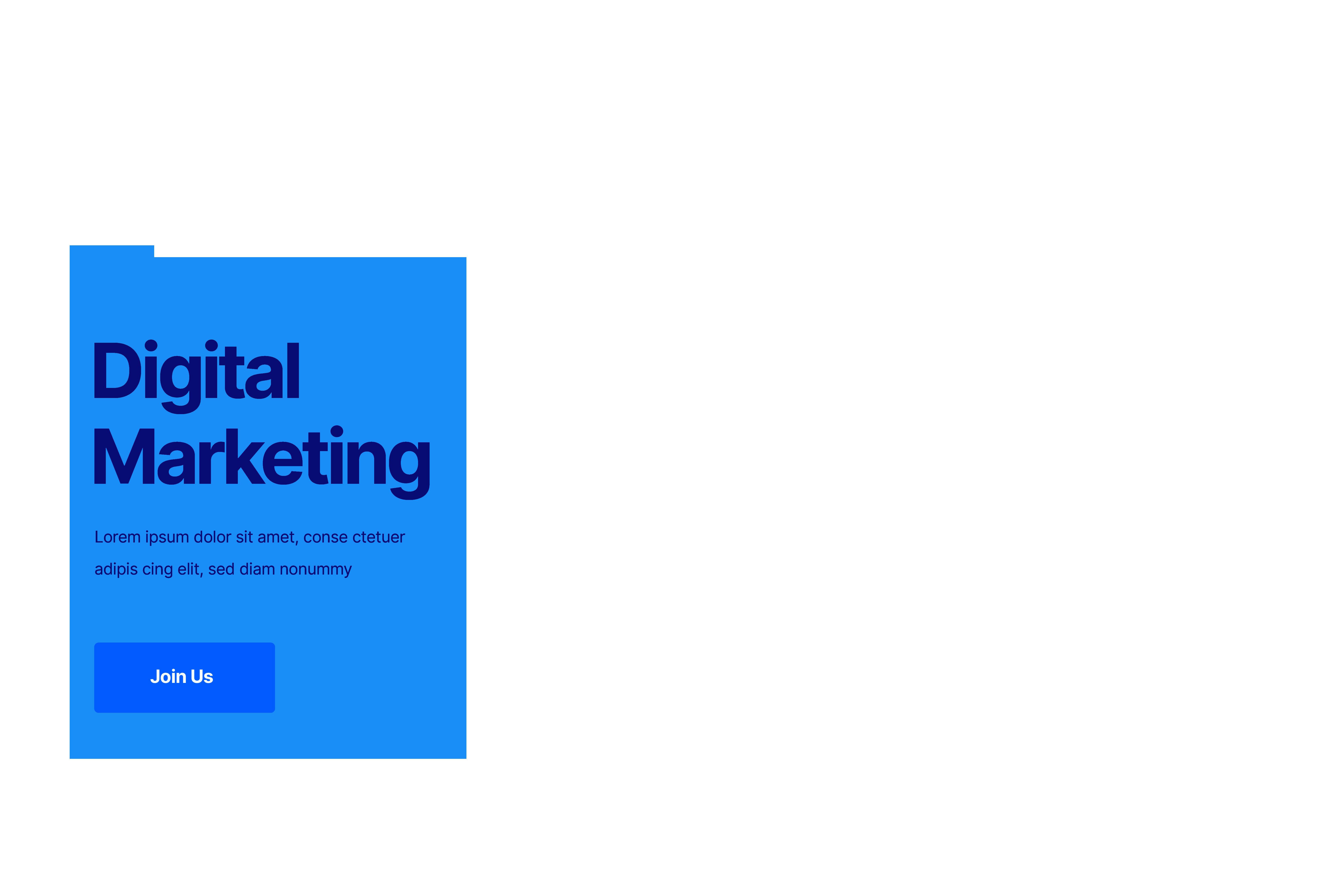 user interface digital marketing content
