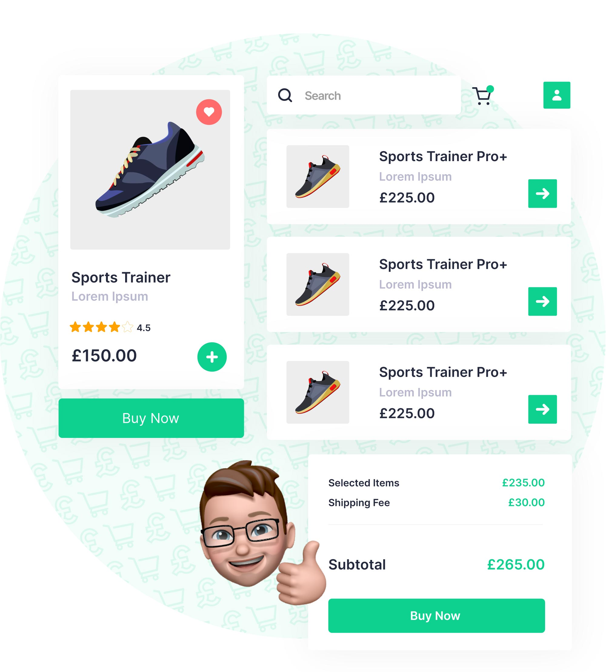 ecommerce checkout graphic