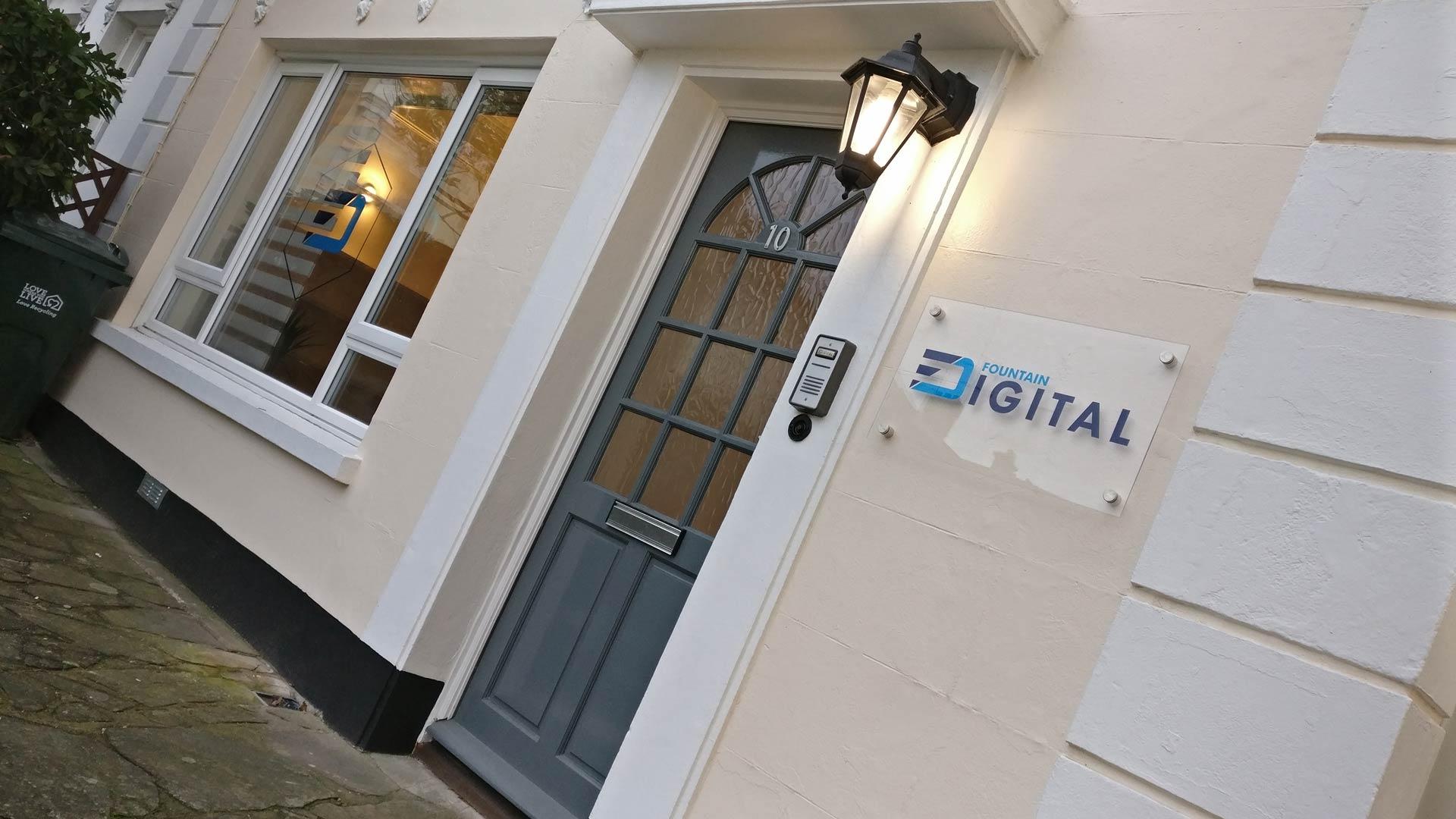 Fountain Digital office front door