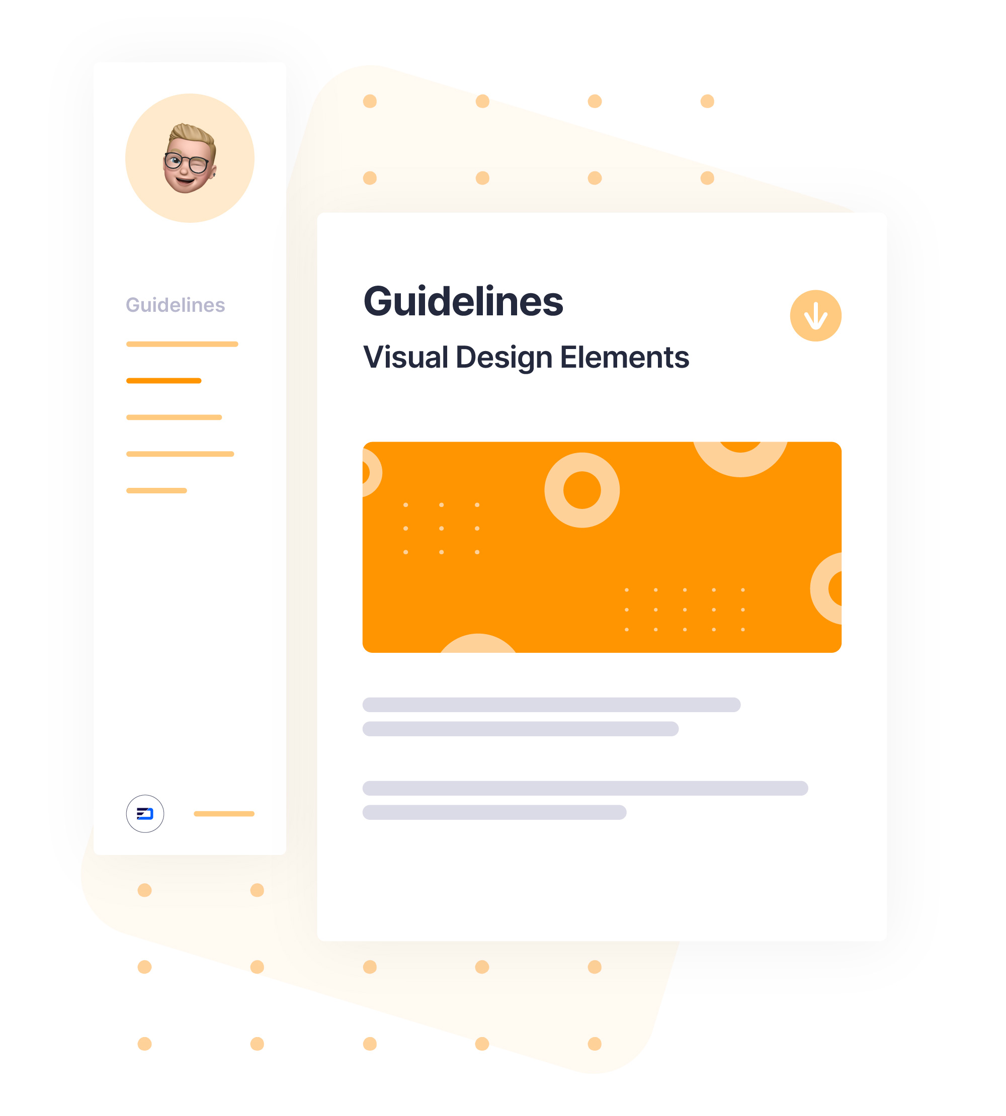digital brand guideline mockup