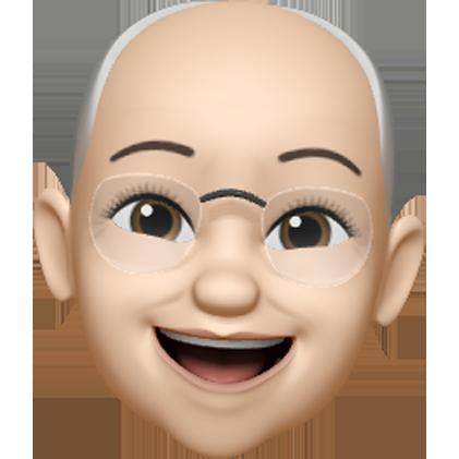 smiling memoji character