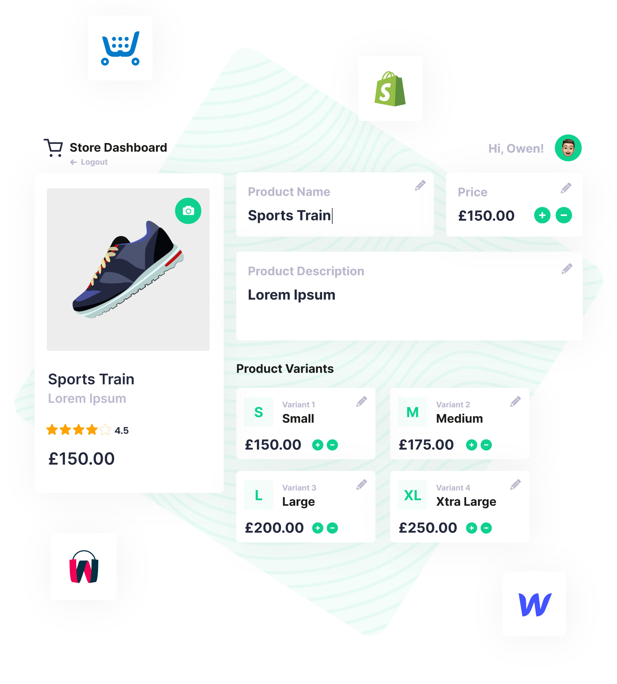 ecommerce store dashboard graphic