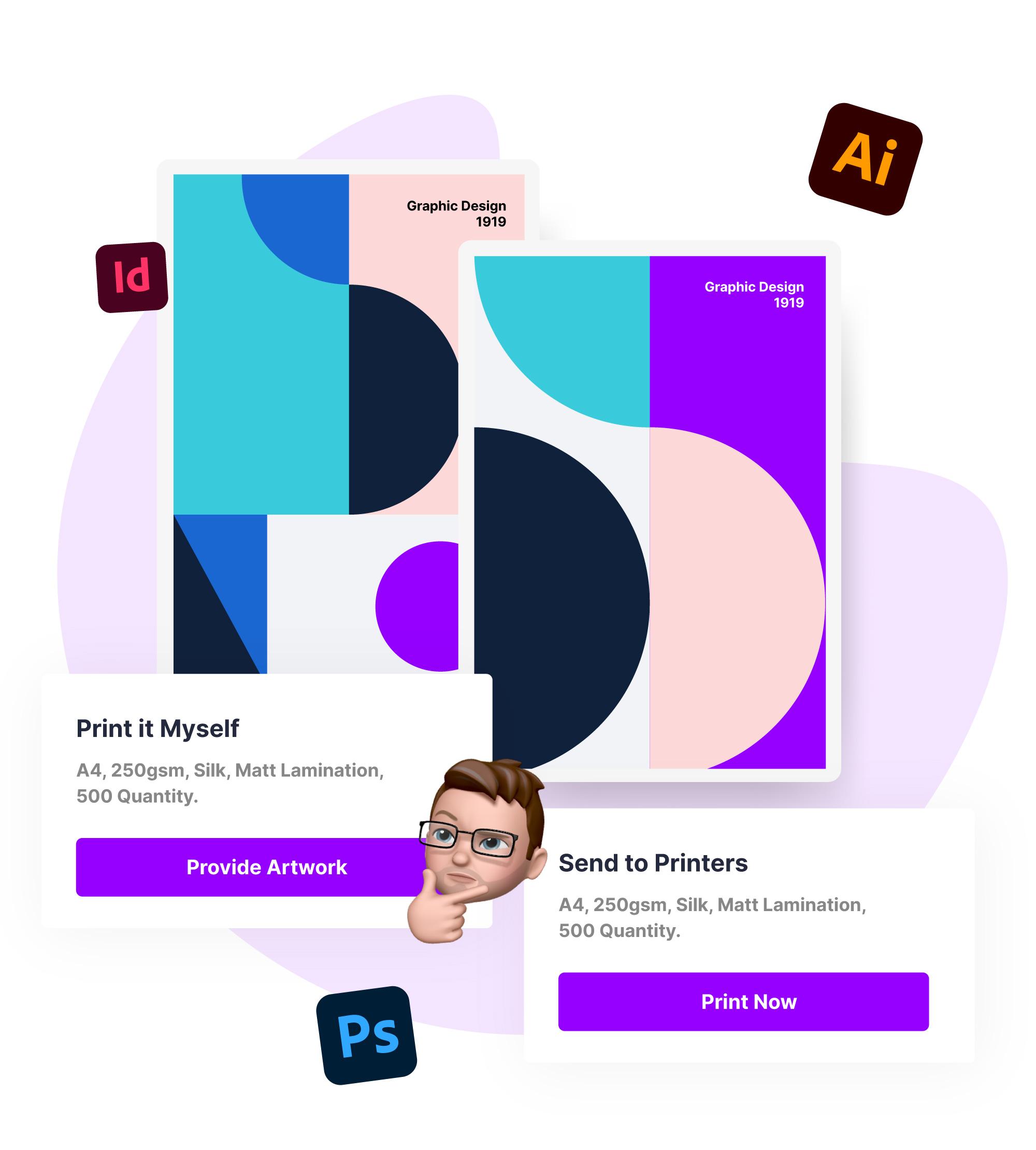 printing materials graphic