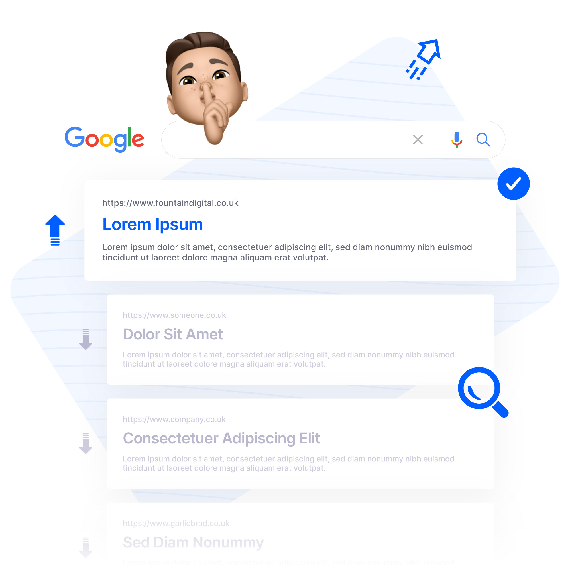 content writing optimised for google graphic
