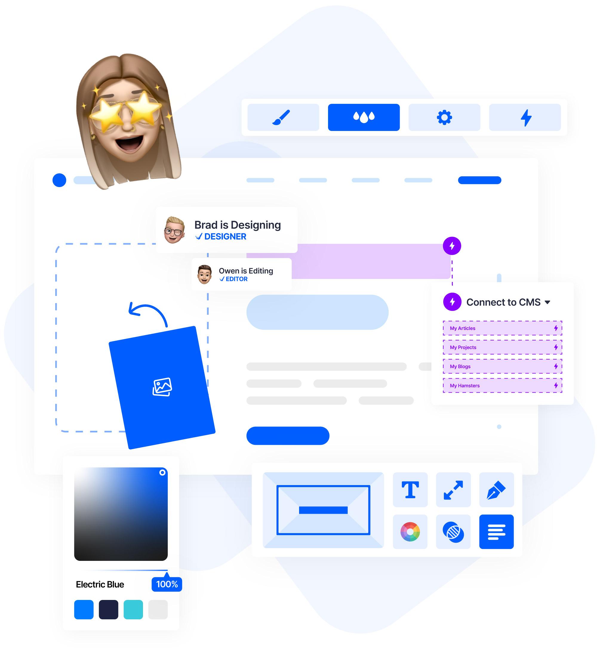 web design in webflow user interface