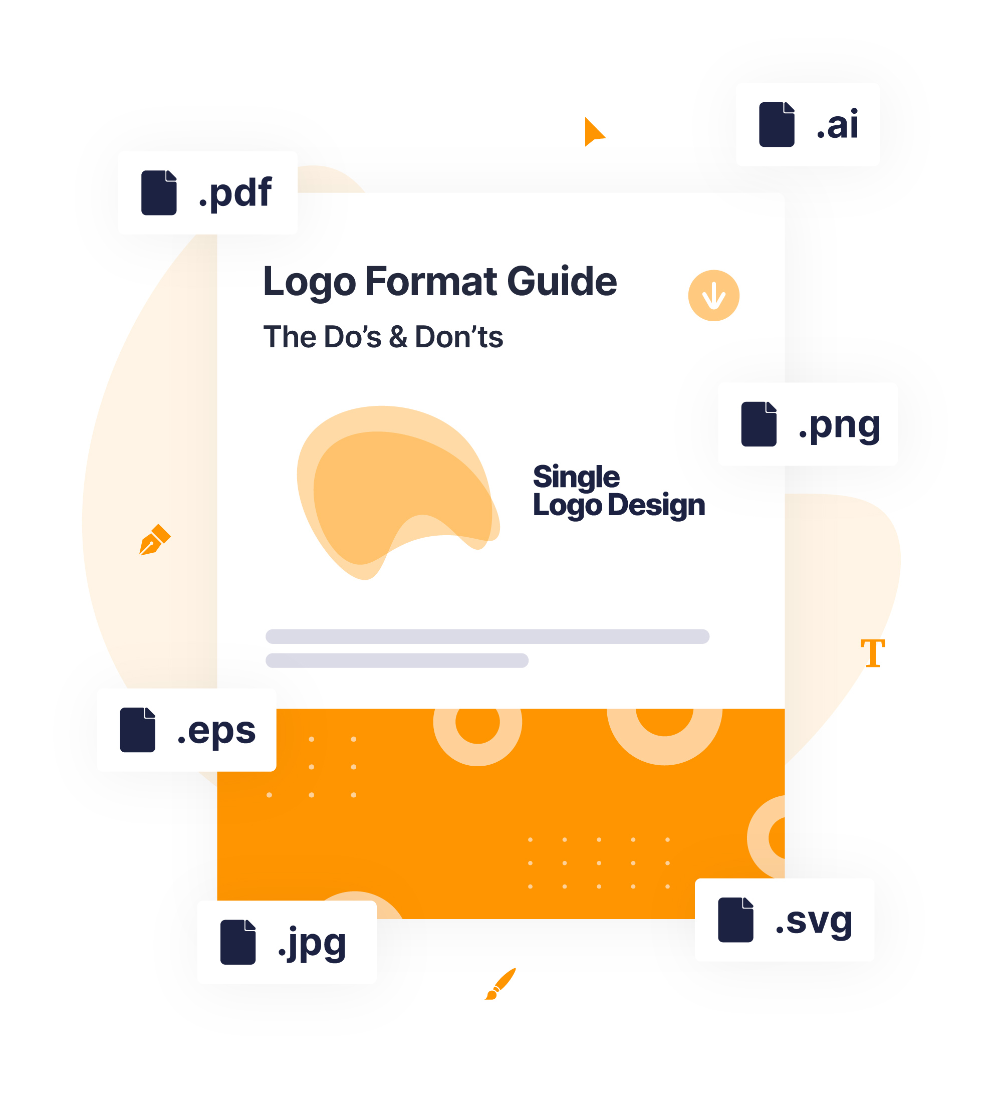 logo guide and file types graphic