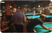 People playing pool