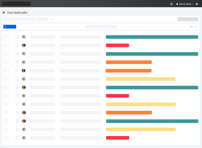 A sheet of progress in the Encode dashboard