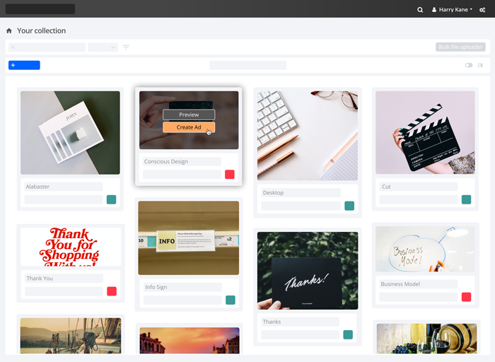 A range of photos in the Encode dashboard