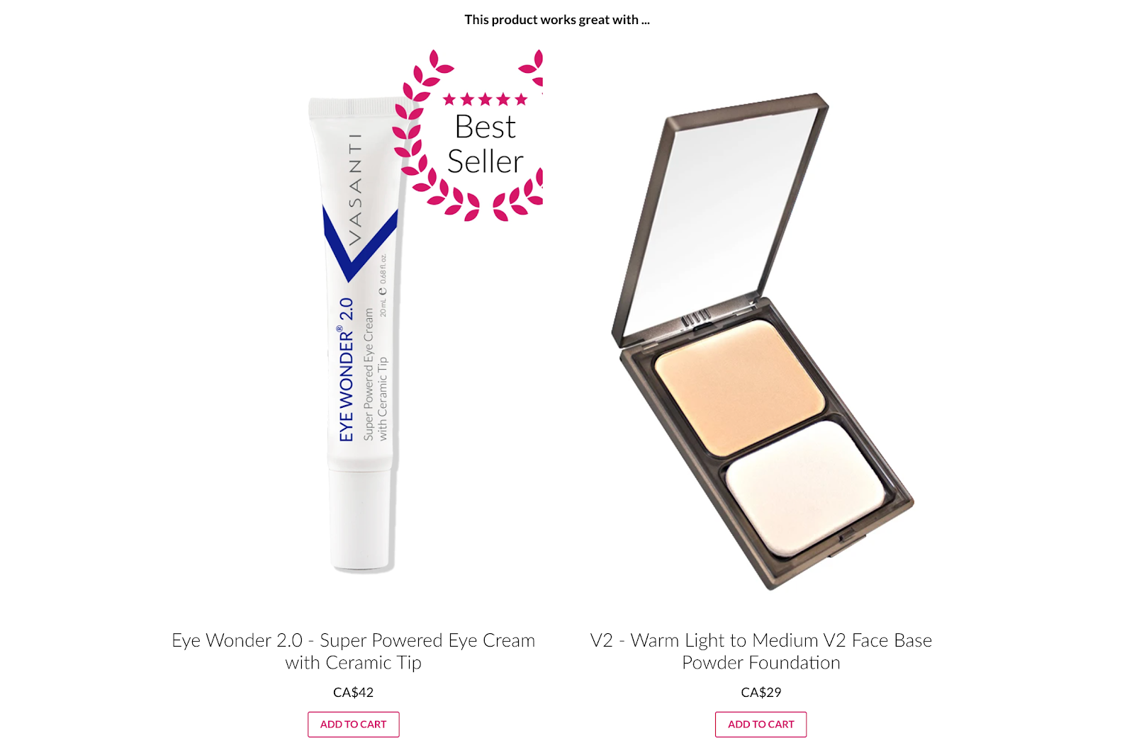 eye cream and foundation makeup