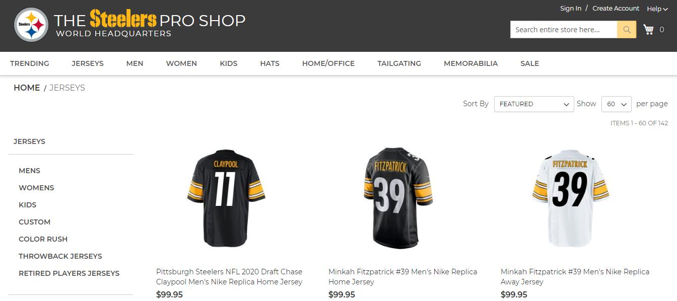 Steelers Pro Shop