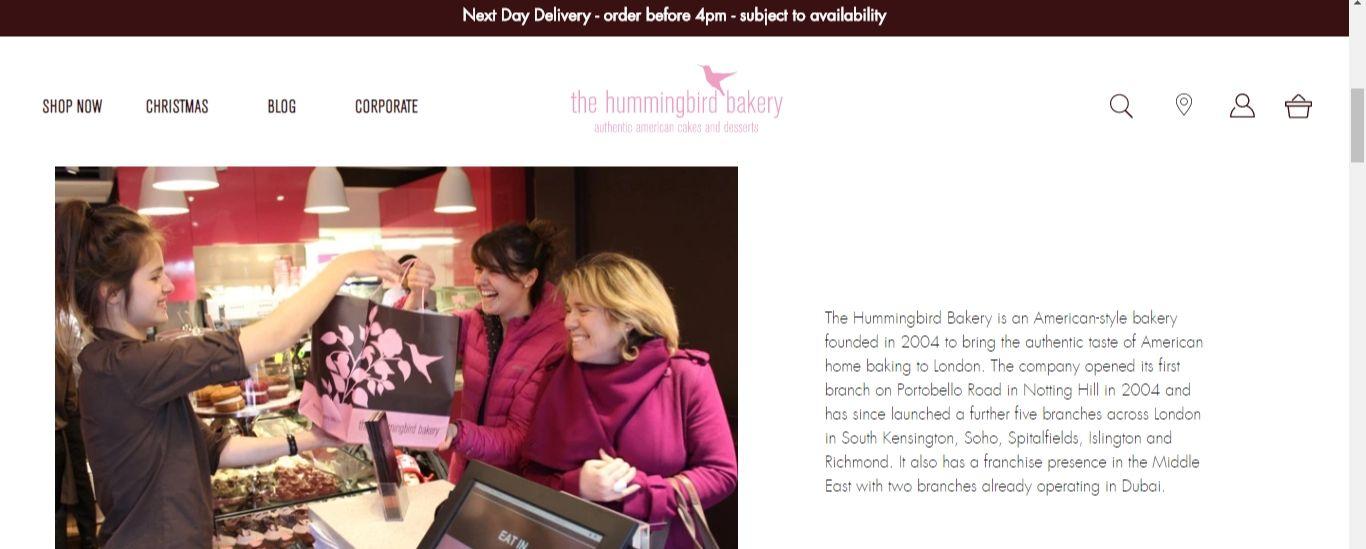 Hummingbird homepage
