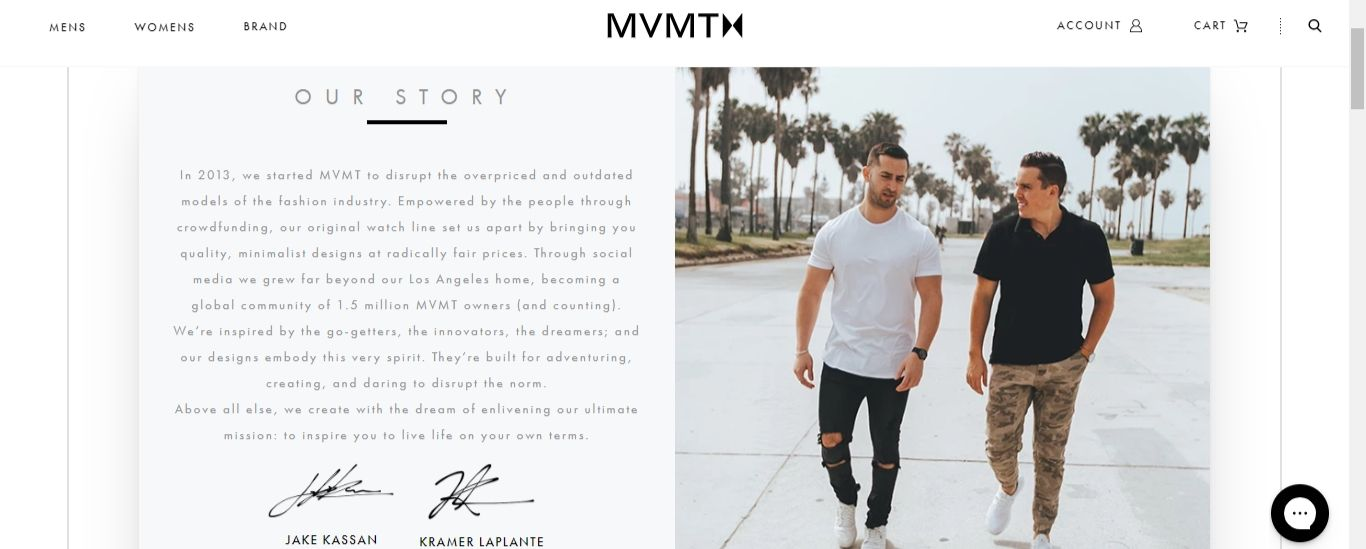 MVMT homepage