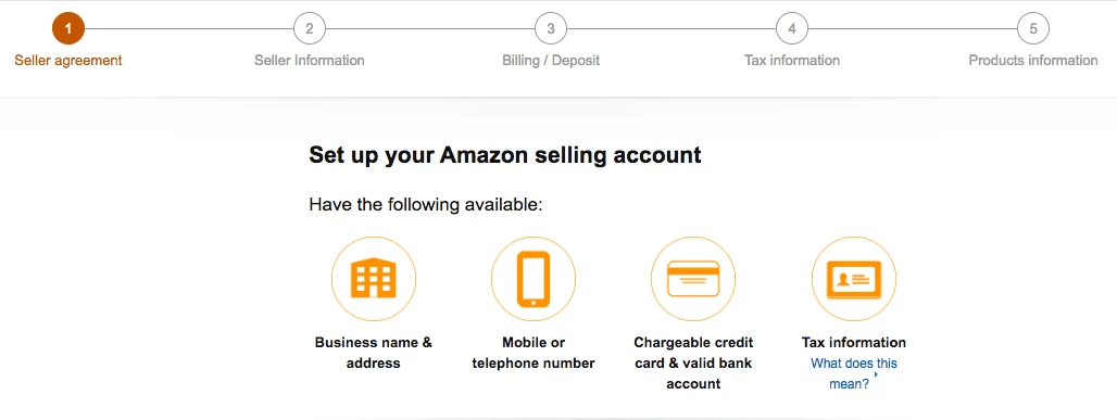 Set up your Amazon selling account