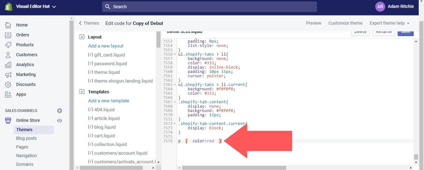 Add the following code