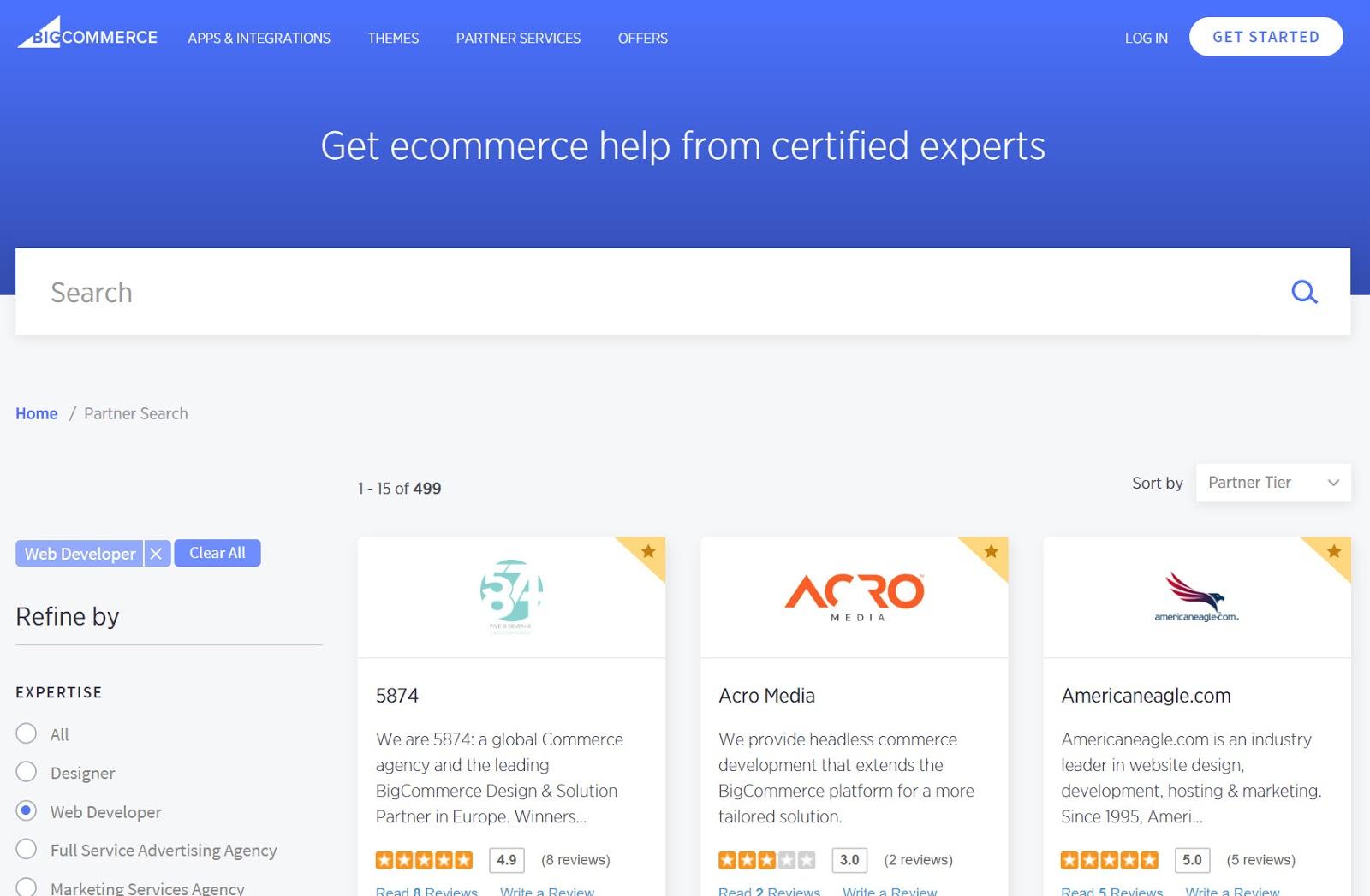 BigCommerce Partners Directory