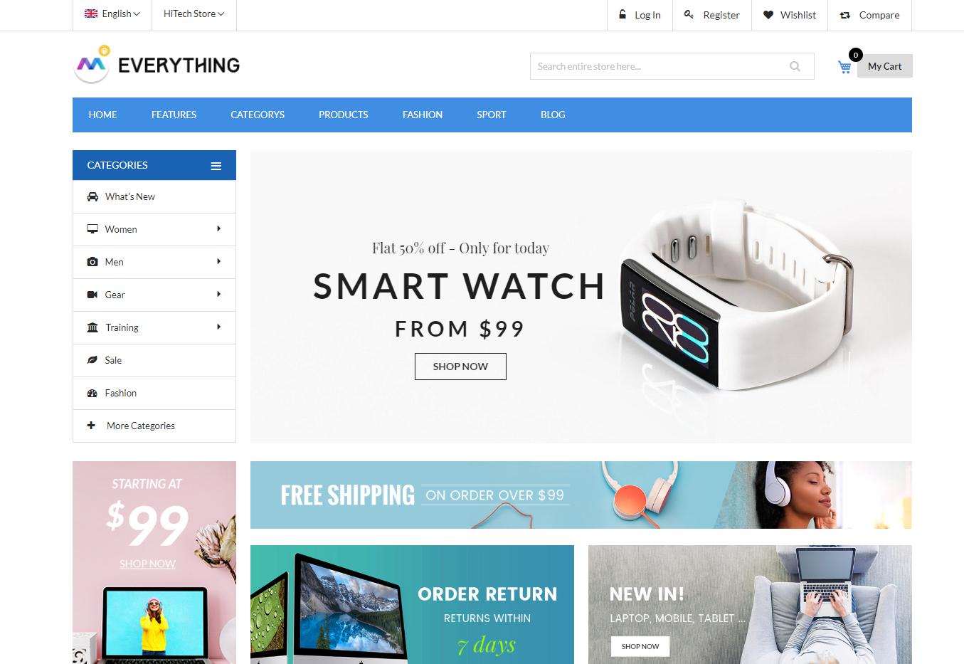 everything theme homepage