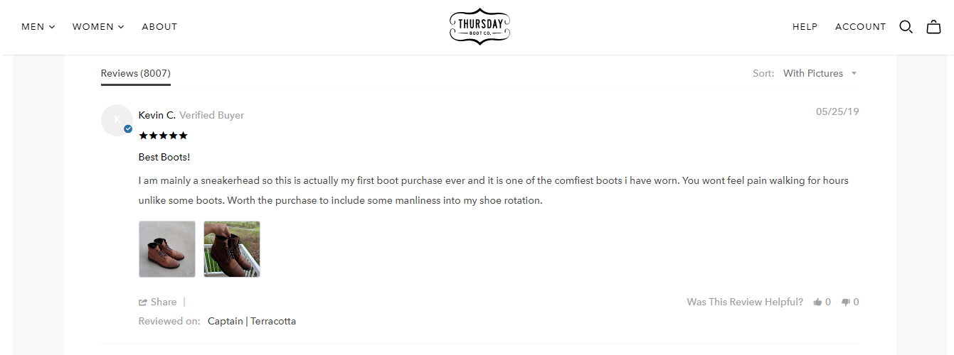 Thursday Boots featuring customer reviews