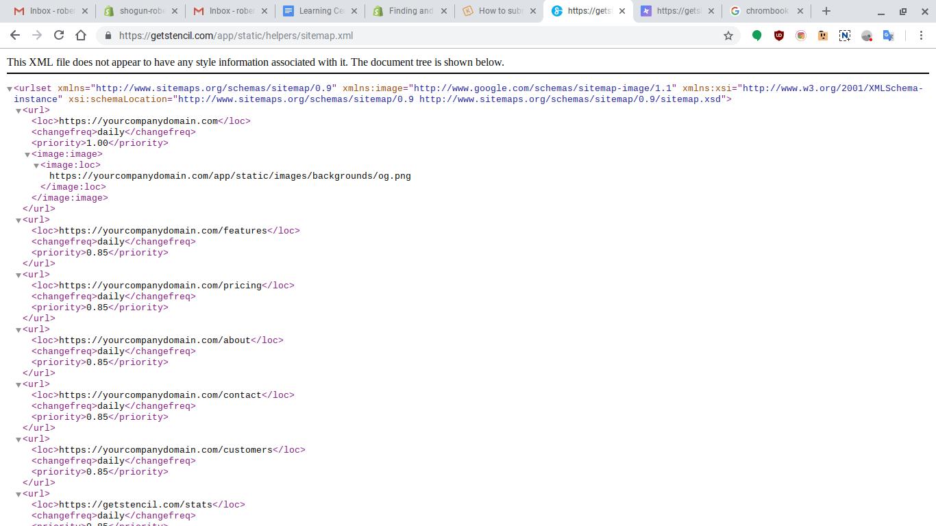 XML page