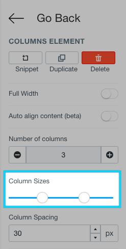 Shogun column size