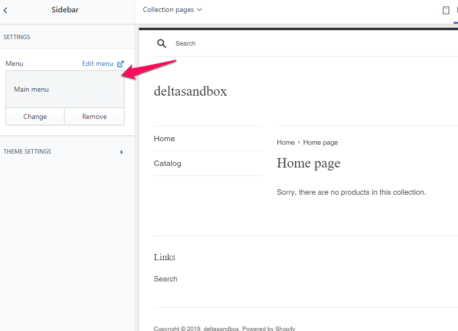 There's no way to add other sections to the sidebar through Shopify