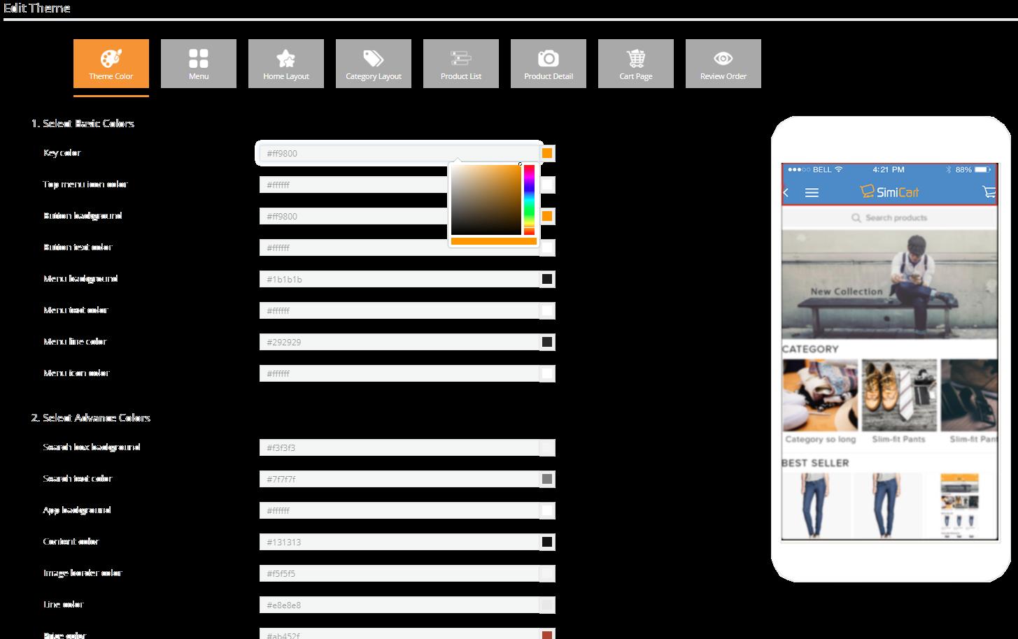 SimiCart Mobile App Builder