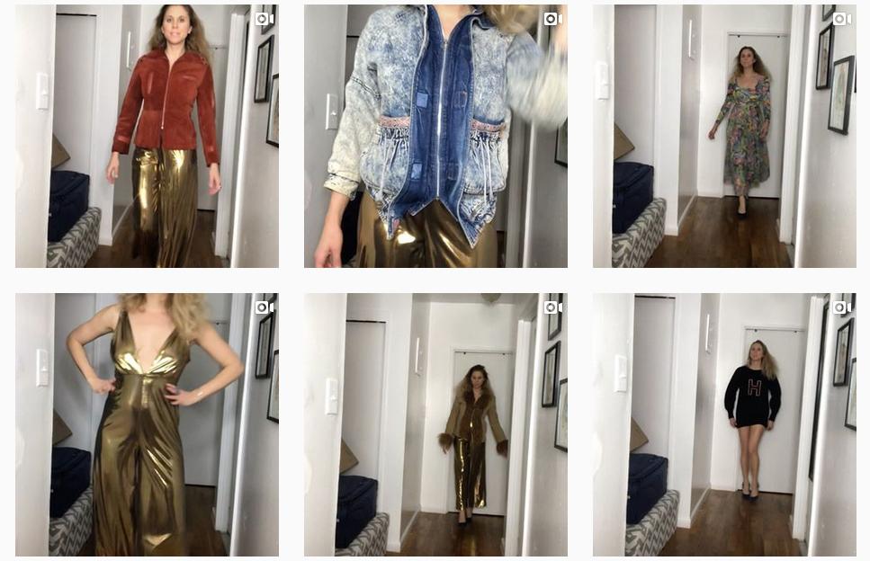 Sammy Davis selling vintage clothing on Instagram