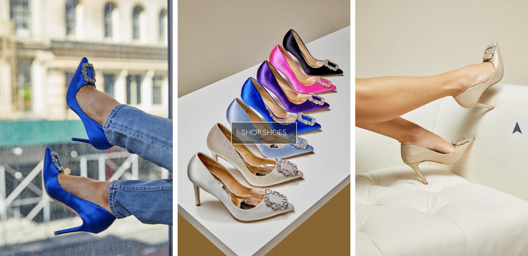 colorful Badgley Mischka dress shoes
