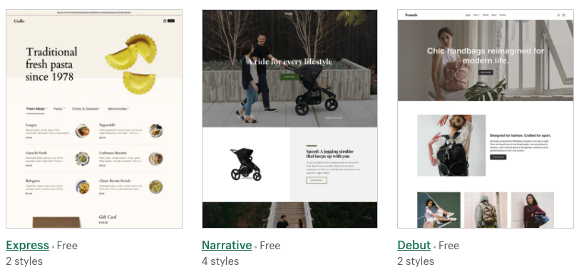 shopify theme store free shopify themes examples