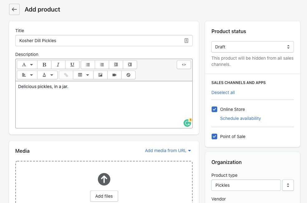 add product on shopify store dashboard
