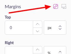 unlink margin properties in shogun page builder