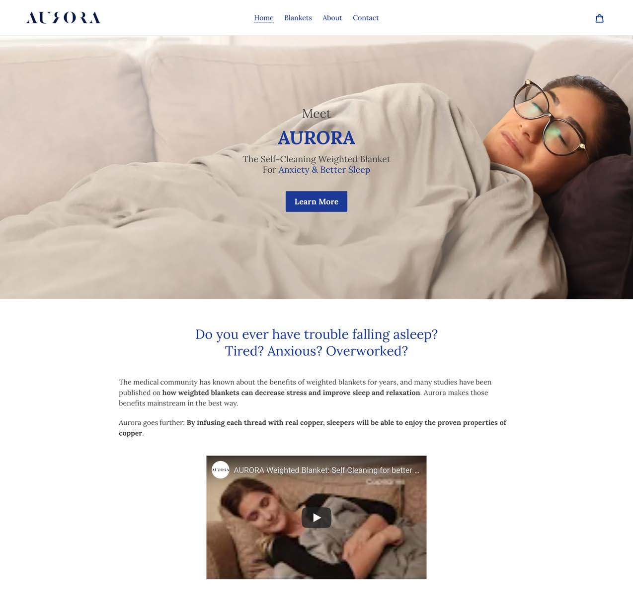 aurora blanket one product shopify stores