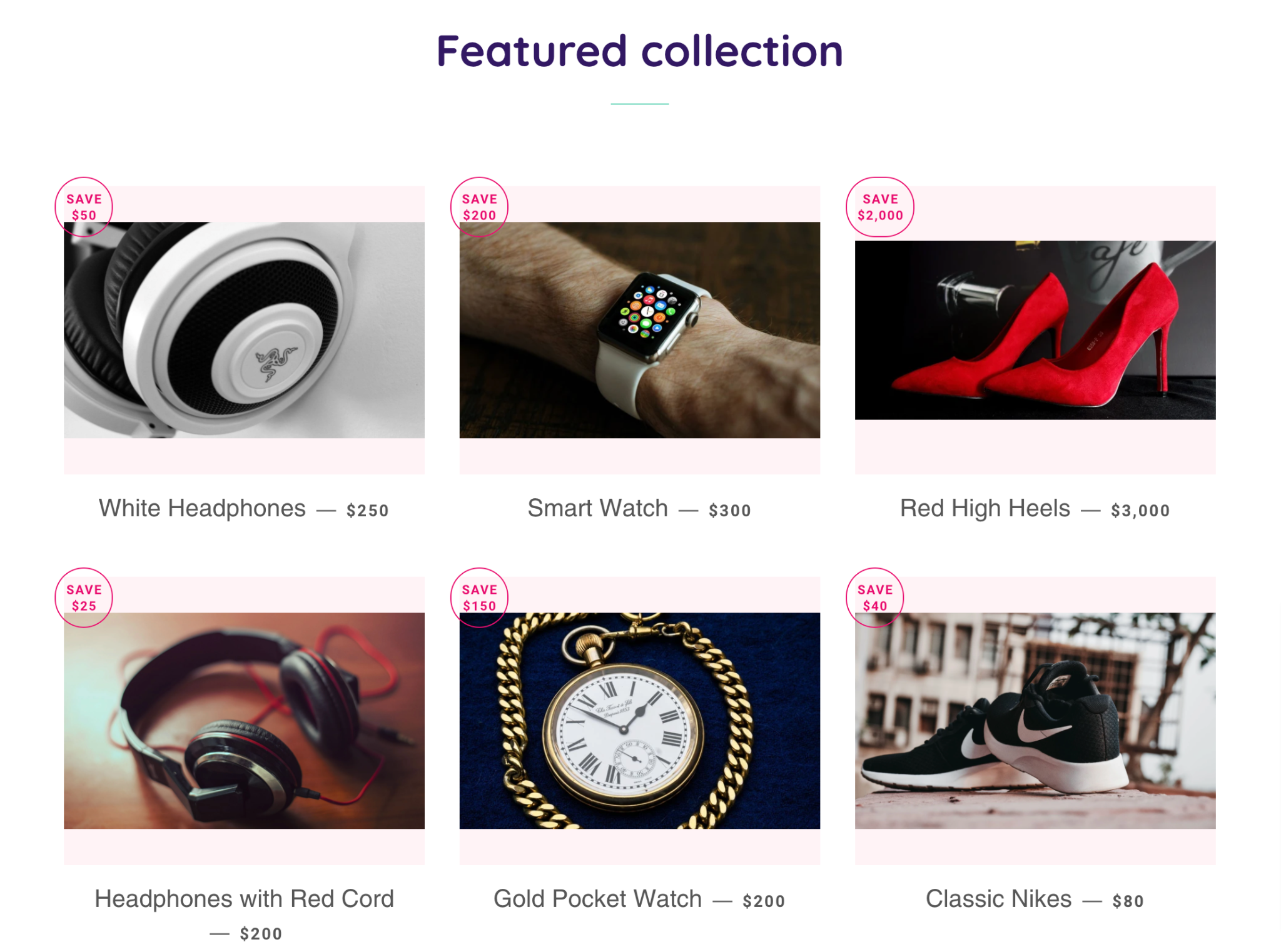 shopify dashboard traditional grid pattern collection