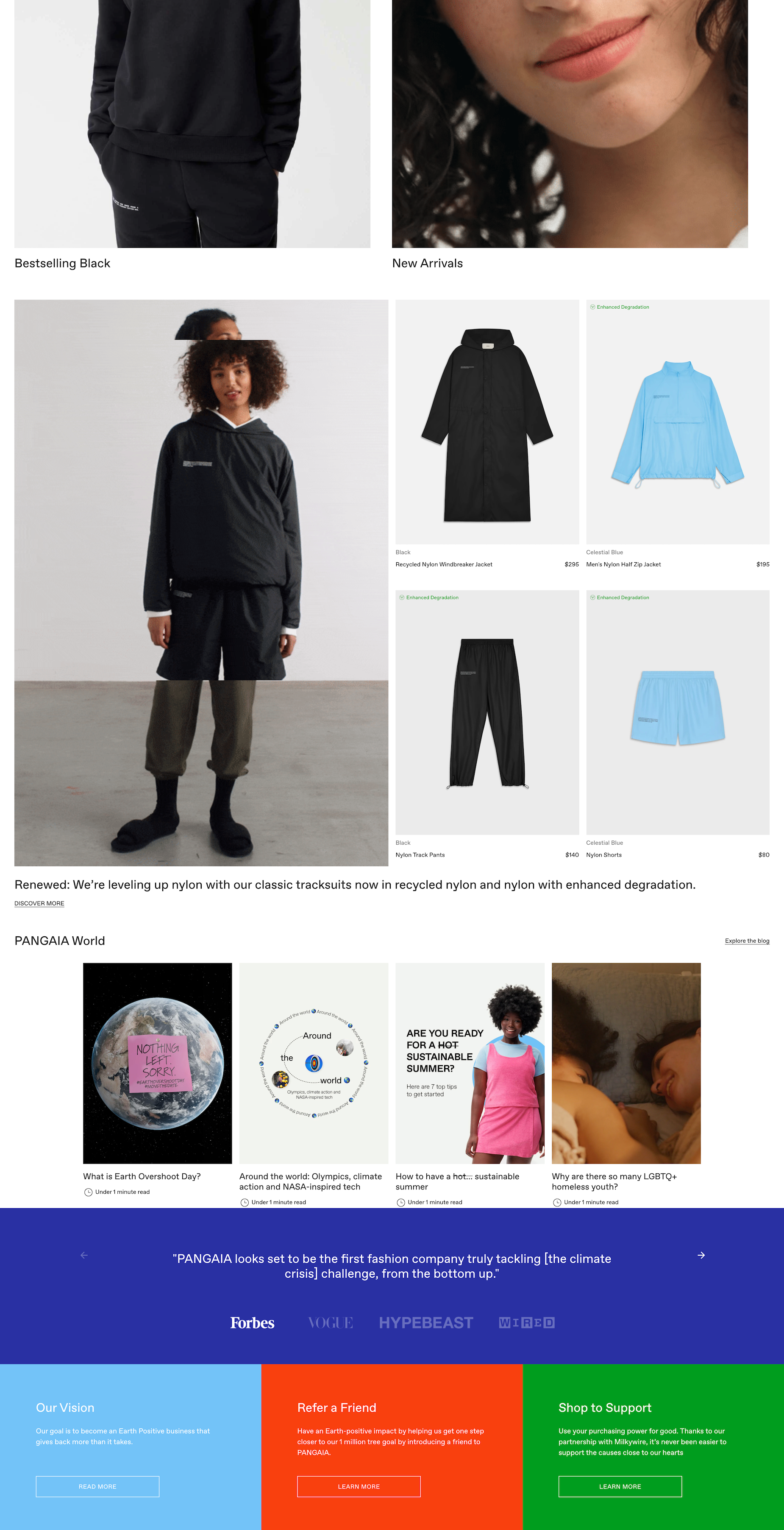 bottom half pangaia homepage loungewear brand