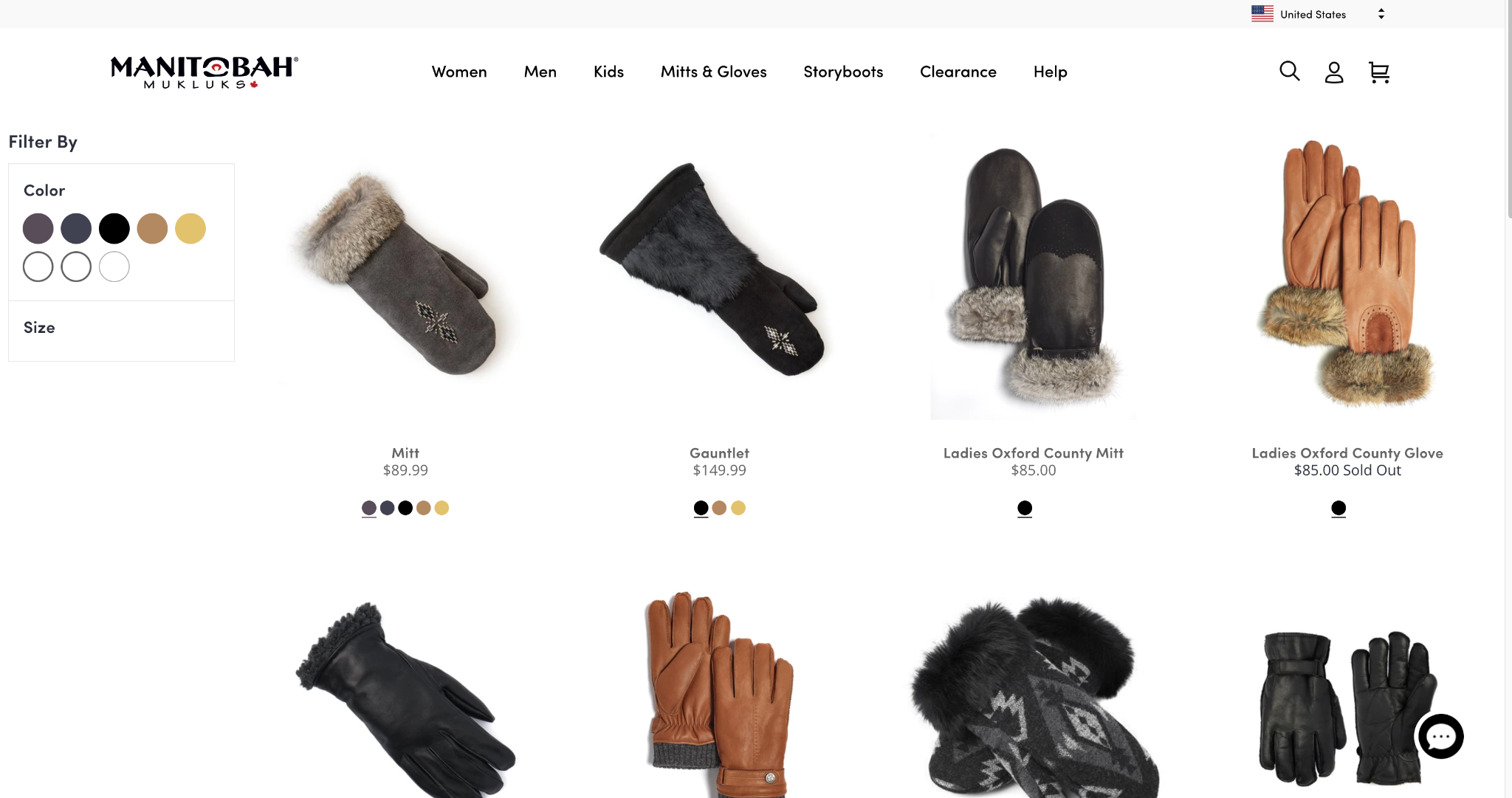 manitobah gloves mittens collections page