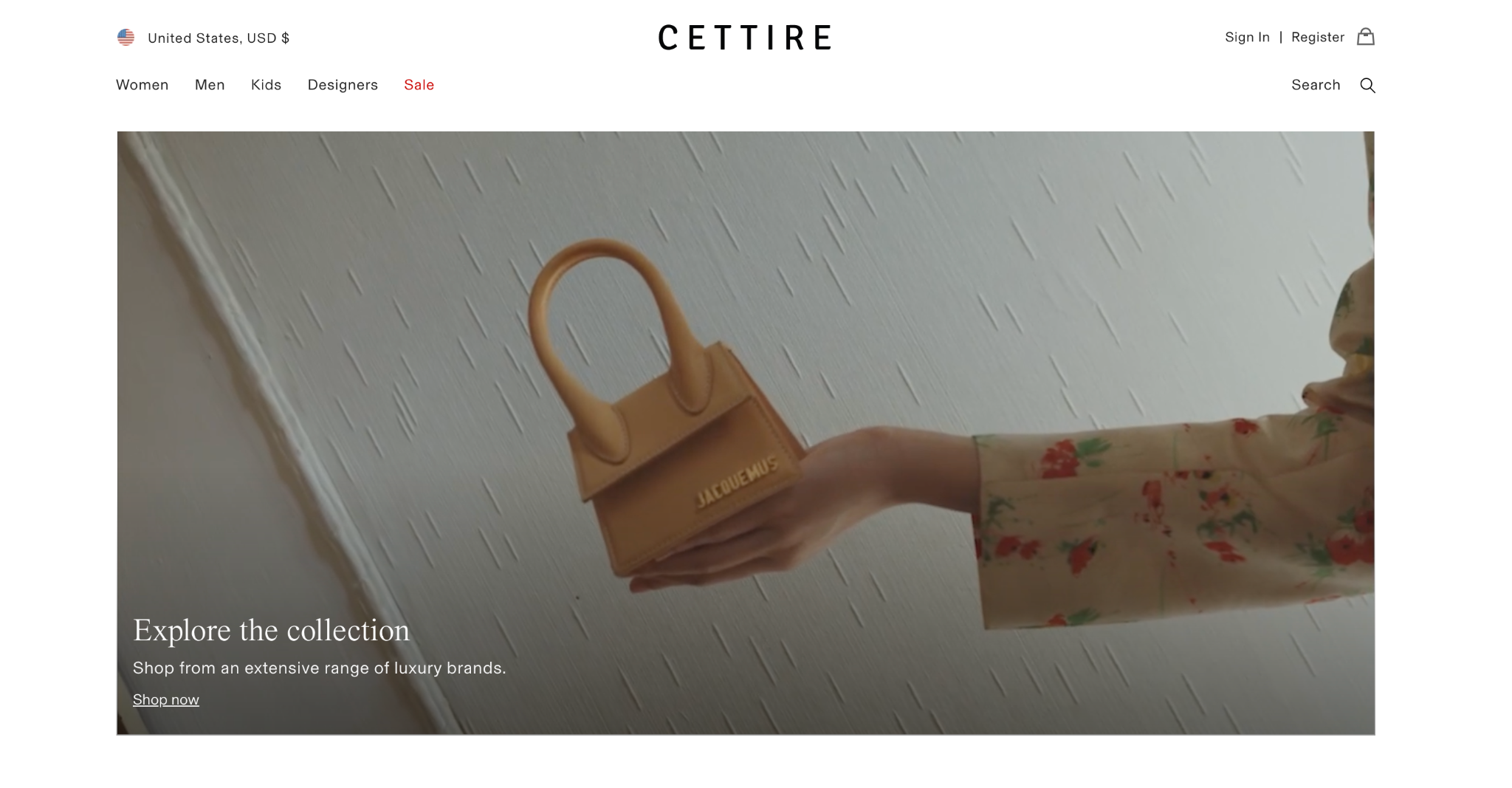 cettire collections page