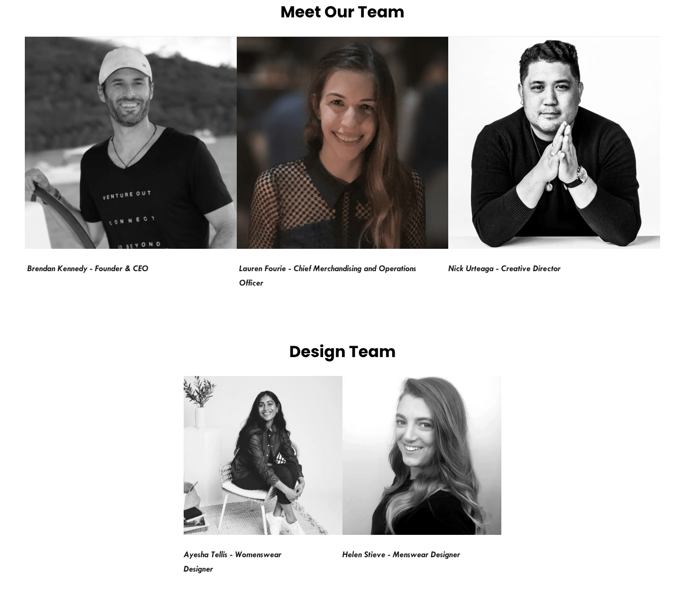 the nxtstop about us page meet the team
