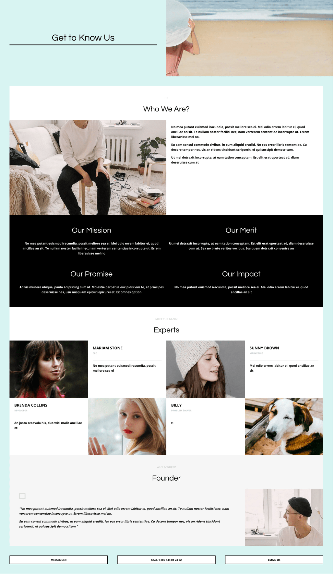 get to know us about us page template shogun