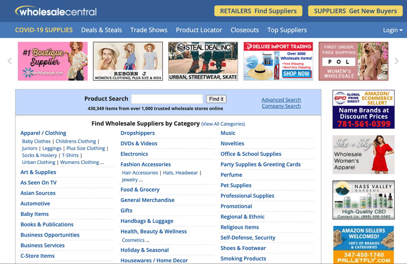wholesale central wholesale supplier directory