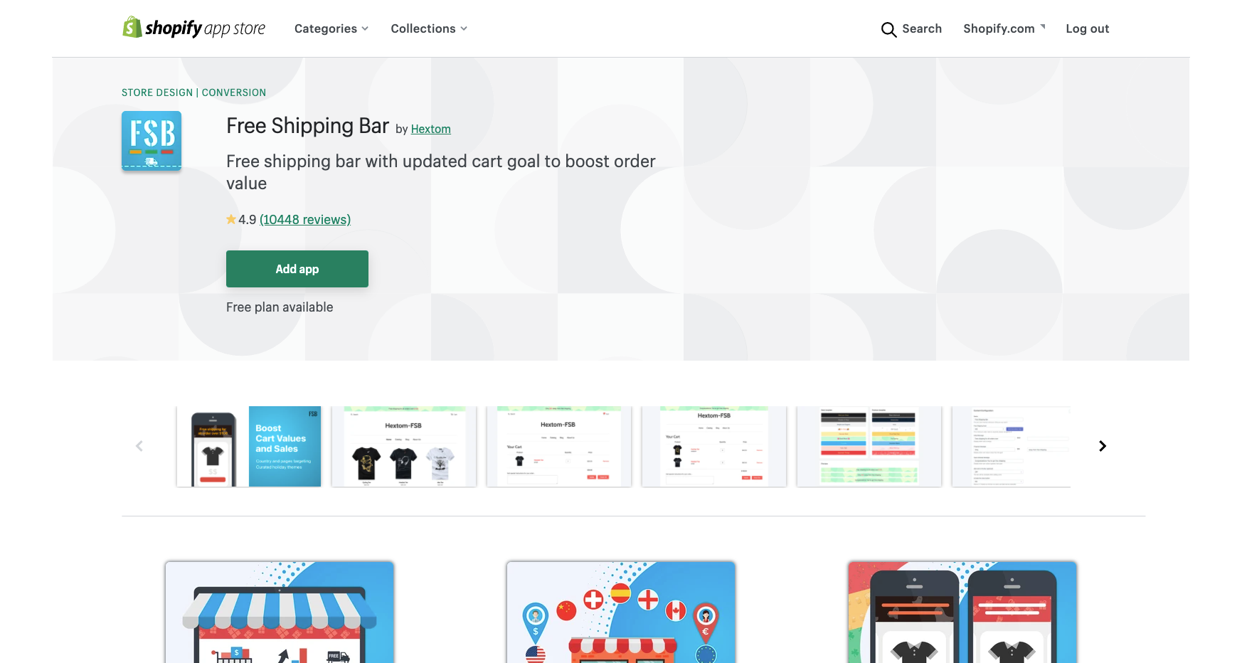 free shipping bar best shopify apps