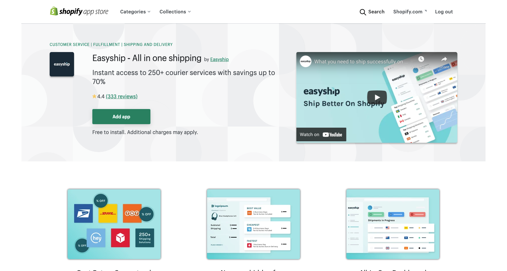 easyship best shopify apps