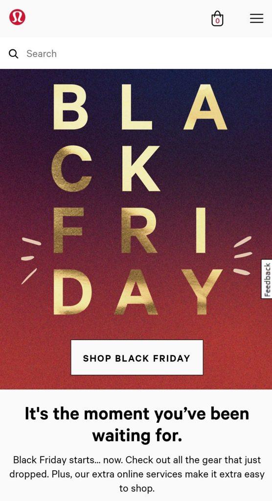 lululemon black friday marketing strategy launch new products